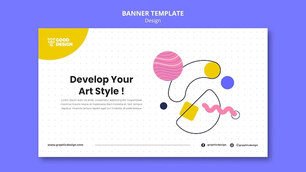 Modelo de banner para design gráfico
