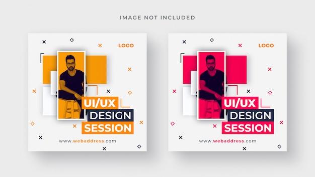Modelo de banner para design para publicação em mídia social