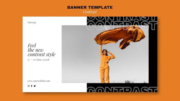 Modelo de banner para estilo contrastante