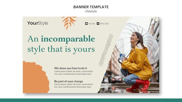 Modelo de banner para estilo de vida pessoal