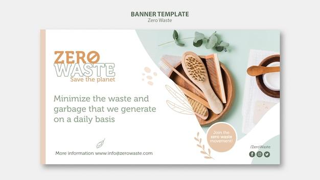Modelo de banner para estilo de vida zero desperdício