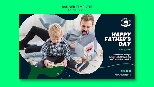 Modelo de banner para evento do dia dos pais