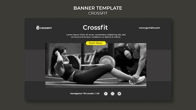 Modelo de banner para exercício crossfit