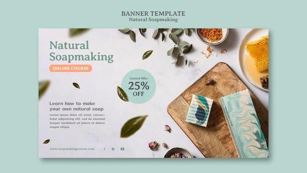 Modelo de banner para fabricação de sabonete natural