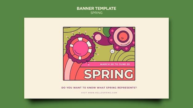 Modelo de banner para festa de primavera
