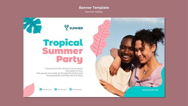 Modelo de banner para festa de verão