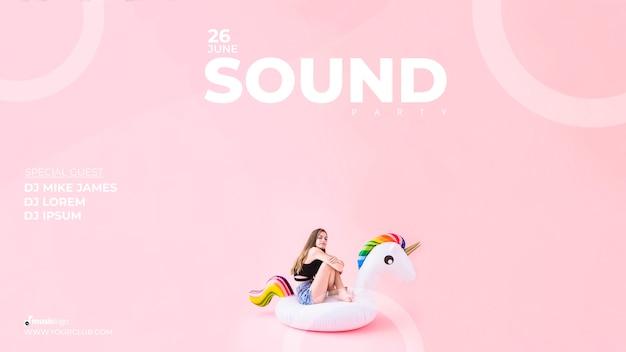 Modelo de banner para festival de som
