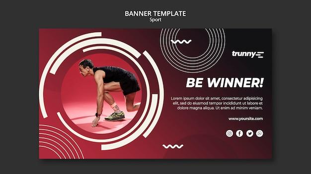 Modelo de banner para fitness e esporte
