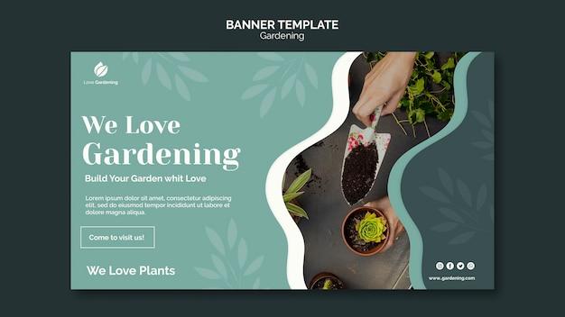 Modelo de banner para jardinagem