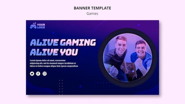 Modelo de banner para jogos no local