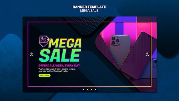 Modelo de banner para mega venda