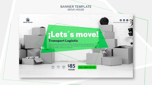 Modelo de banner para mover o tema do serviço