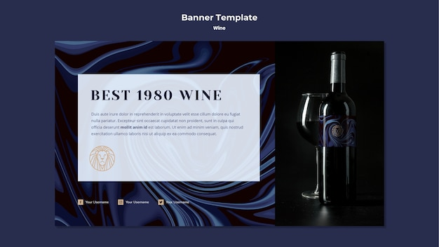 Modelo de banner para negócios de vinho