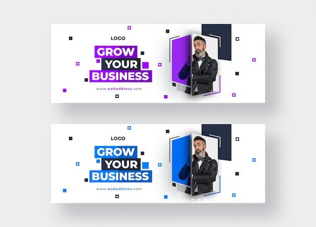 Modelo de banner para negócios para publicação em mídia social