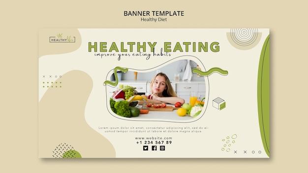 Modelo de banner para nutrição saudável