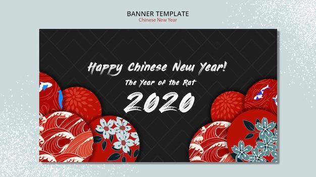Modelo de banner para o ano novo chinês