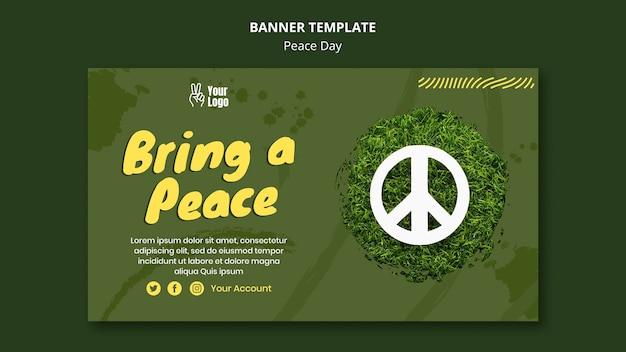 Modelo de banner para o dia mundial da paz