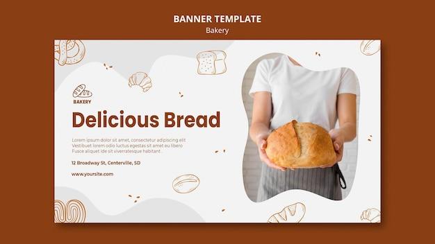 Modelo de banner para padaria de pão