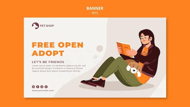 Modelo de banner para pet shop