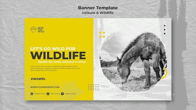Modelo de banner para proteção da vida selvagem e meio ambiente