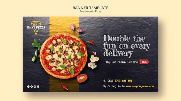 Modelo de banner para restaurante de pizza