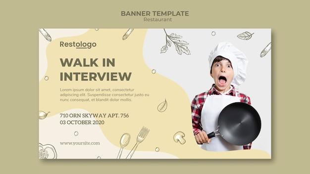 Modelo de banner para restaurante