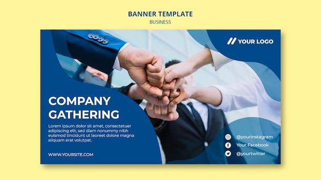 Modelo de banner para reunião de empresa