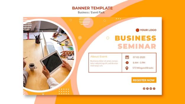 Modelo de banner para seminário de negócios