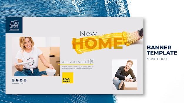 Modelo de banner para serviços de realocação residencial