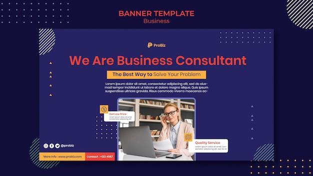 Modelo de banner para soluções de negócios profissionais