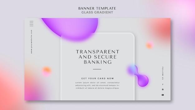 Modelo de banner para transações bancárias transparentes e seguras