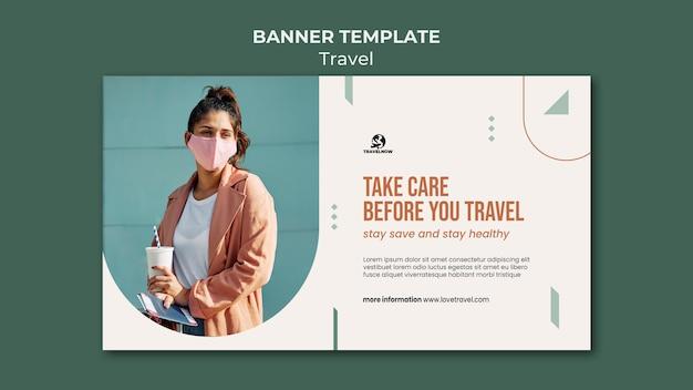 Modelo de banner para viagens seguras