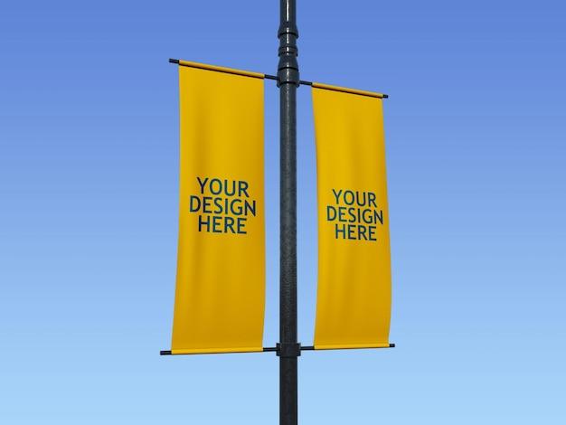 Modelo de banner poste de lâmpada