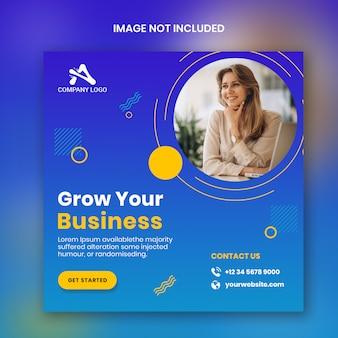 Modelo de banner profissional de negócios