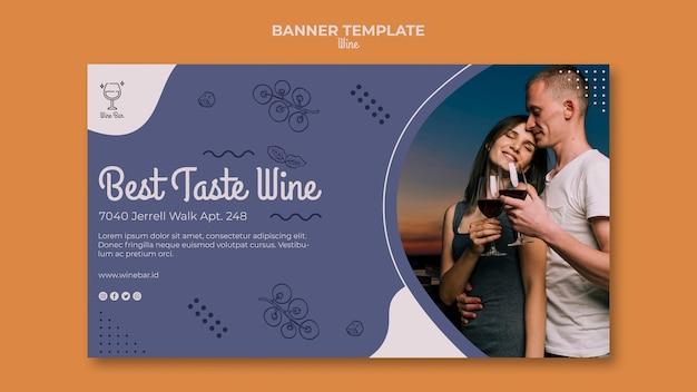 Modelo de banner promocional de loja de vinhos