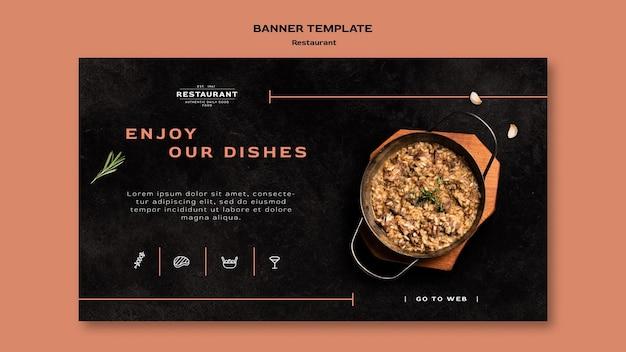 Modelo de banner promocional de restaurante
