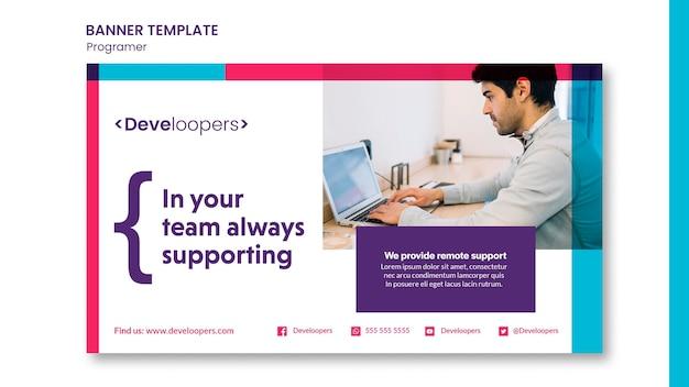 Modelo de banner promocional para programador
