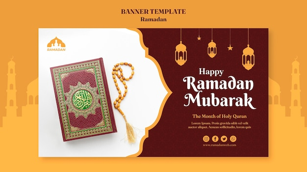 Modelo de banner ramadan kareem