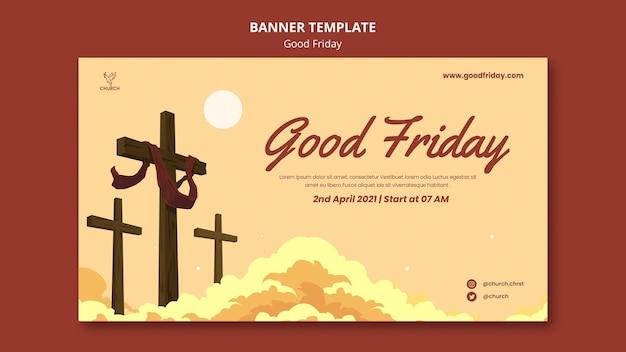 Modelo de banner social na sexta-feira santa