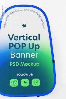 Modelo de banner vertical pop-up, close-up