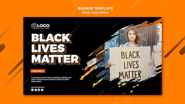 Modelo de banner - vidas negras importa