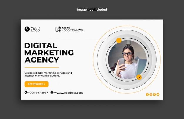 Modelo de banner web de marketing digital empresarial