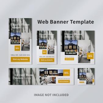 Modelo de banner web imobiliário
