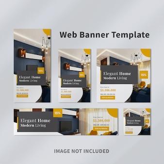 Modelo de banner web imobiliário Psd Premium
