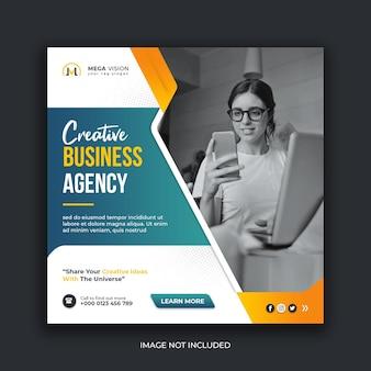 Modelo de banner web instagram para agência de negócios criativos
