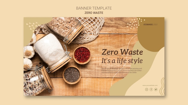 Modelo de banner zero desperdício