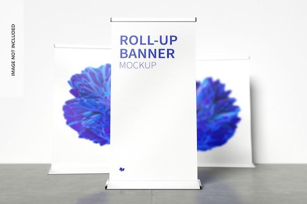Modelo de banners de roll-up em pé
