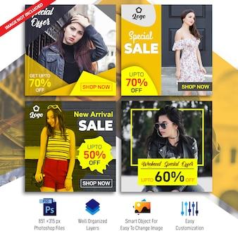Modelo de banners social de venda de negócios