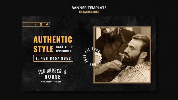 Modelo de barbearia de banner
