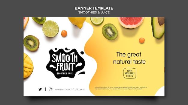 Modelo de barra de smoothie de banner